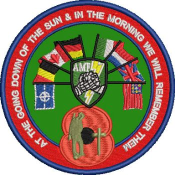 At the Going Down AMF Embroidered badge